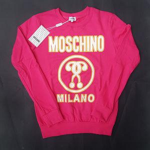 sweatshirt moschino pink
